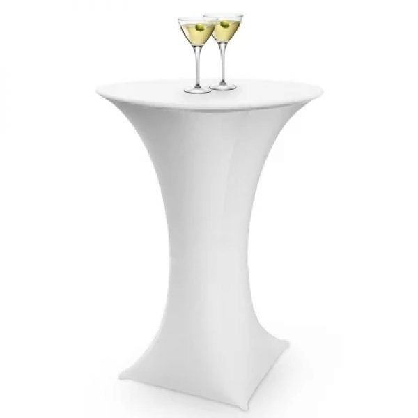 White Lycra Cocktail Table Covers Npm Events