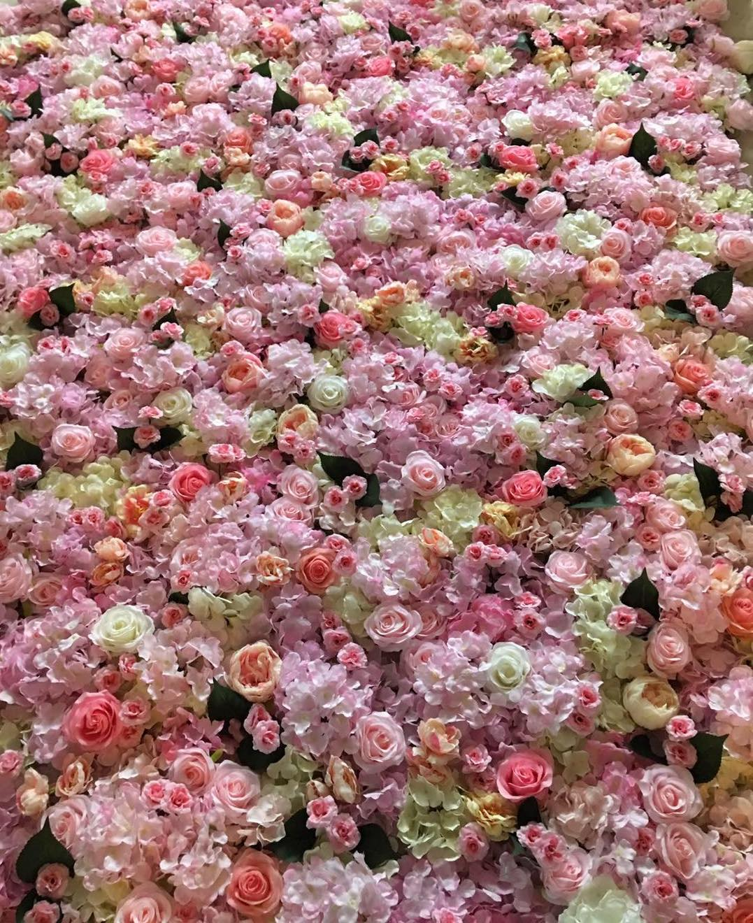 Pretty In Pink Flower Wall Npm Events